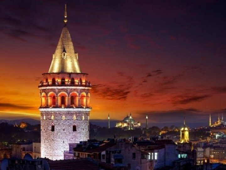 Galata Tower Lighting At Night With Its Heavenly Beauty